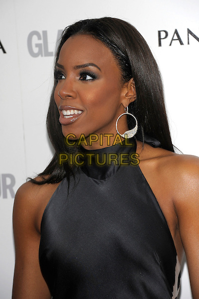 Kelly Rowland.Women Of The Year 2012 - Glamour Awards, Berkeley Square, London, England..29th May 2012.headshot portrait silver hoop earrings black sleeveless  profile .CAP/PL.©Phil Loftus/Capital Pictures.