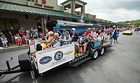 NWA Democrat-Gazette/BEN GOFF @NWABENGOFF<br /> Members of the U.S. Submarine Veterans, Inc. USS Snook Base chapter ride Thursday, July 4, 2019, during the Bella Vista Patriots Parade at Sugar Creek Shopping Center.