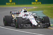 24th March 2018, Melbourne Grand Prix Circuit, Melbourne, Australia; Melbourne Formula One Grand Prix, qualifying; Sergey Sirotkin of Russia driving the (35) Williams Martini Racing FW41 Mercedes