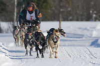 Musher Andi Heutten, 2007 Open North American Championship sled dog race (the world's premier sled dog sprint race) is held annually in Fairbanks, Alaska.