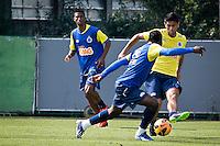 SÃO PAULO,SP,19 JULHO 2013 - TREINO CRFUZEIRO -  Luan durante treino do Cruzeiro  no CT  do Palmeiras na Barra Funda, zona oeste de Sao Paulo,na manhã sexta feira.O time se prepara para o jogo contra o São Paulo no sabado (20).FOTO ALE VIANNA - BRAZIL PHOTO PRESS.