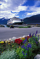 Holland America cruise ship in Skagway, Alaska.