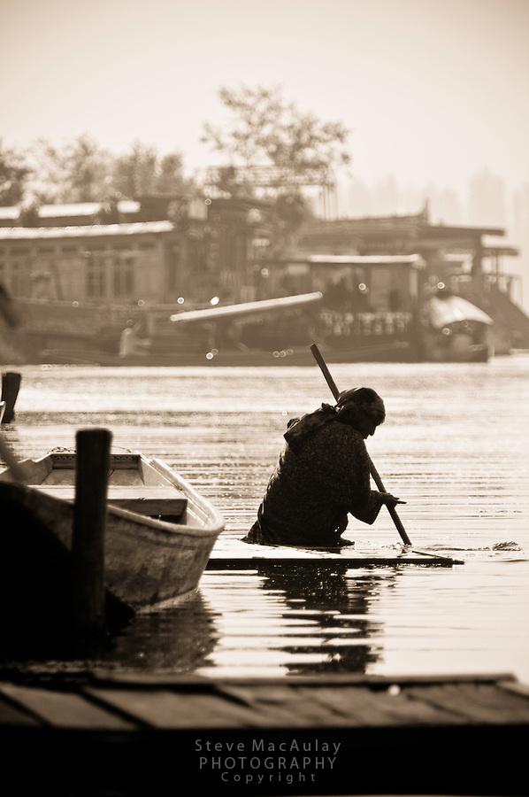 Dal Lake, Srinagar, Kashmir, India.