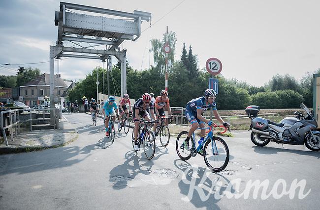 Marco Marcato (ITA/Wanty - Groupe Gobert) leading the peloton over a small bridge<br /> <br /> 12th Eneco Tour 2016 (UCI World Tour)<br /> Stage 7: Bornem › Geraardsbergen (198km)
