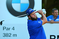 Andrew beefy Johnston tees off at the 6th hole tee during the BMW PGA Golf Championship at Wentworth Golf Course, Wentworth Drive, Virginia Water, England on 26 May 2017. Photo by Steve McCarthy/PRiME Media Images.