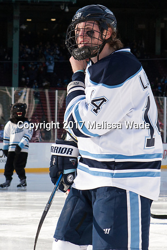 Cedric Lacroix (Maine - 14) - The University of Maine Black Bears defeated the University of Connecticut Huskies 4-0 at Fenway Park on Saturday, January 14, 2017, in Boston, Massachusetts.