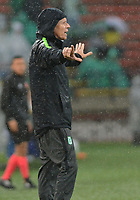 MEDELLIN - COLOMBIA, 19-05-2019: Paulo Autuori de Mello técnico de Nacional gesticula durante partido entre Atlético Nacional y Deportivo Cali por la fecha 3, cuadrangulares semifinales, de la Liga Águila I 2019 jugado en el estadio Atanasio Girardot de la ciudad de Medellín. / Paulo Autuori de Mello coach of Nacional gestures during match between Atletico Nacional and Deportivo Cali for the date 3, semifinal quadrangulars, of the Liga Aguila I 2019 played at the Atanasio Girardot Stadium in Medellin city. Photo: VizzorImage / Leon Monsalve / Cont