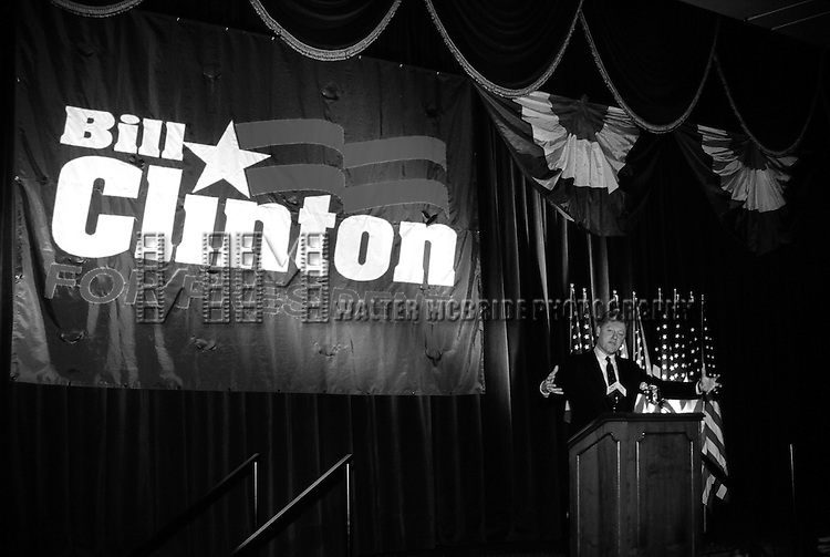 Governor Bill Clinton attending a Democratic Fundraiser at the Sheraton Hotel in New York City. June 1992.