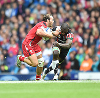 Wales's William Harries evades the tackle of Kenya's Michael Wanjala Matayo<br /> <br /> Kenya Vs Wales - men's placing 5-8 match<br /> <br /> Photographer Chris Vaughan/CameraSport<br /> <br /> 20th Commonwealth Games - Day 4 - Sunday 27th July 2014 - Rugby Sevens - Ibrox Stadium - Glasgow - UK<br /> <br /> © CameraSport - 43 Linden Ave. Countesthorpe. Leicester. England. LE8 5PG - Tel: +44 (0) 116 277 4147 - admin@camerasport.com - www.camerasport.com