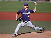 Kansas State pitcher Joe Flattery vs. Oregon State at NCAA Super Regional in Corvallis, Oregon on June 8, 2013.  Photo by Steve Dipaola