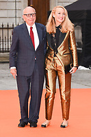 Rupert Murdoch and Jerry Hall<br /> at the Royal Acadamy of Arts Summer Exhibition opening party 2017, London. <br /> <br /> <br /> &copy;Ash Knotek  D3276  07/06/2017