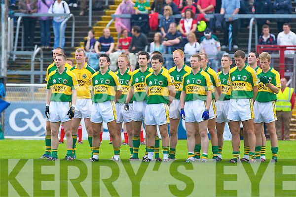 Kerry team, Kerry v Cork, GAA Football Munster Senior Championship Final,  Pairc Ui Chaoimh, Cork. 6th July 2008    Copyright Kerry's Eye 2008