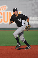 Staten Island Yankees infielder Renzo Martini (33) during game against the Brooklyn Cyclones at MCU Park on June 29, 2014 in Brooklyn, NY.  Staten Island defeated Brooklyn 5-4.  (Tomasso DeRosa/Four Seam Images)