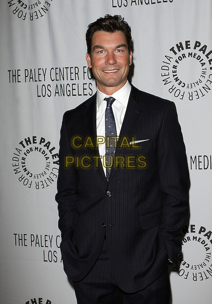 JERRY O'CONNELL .PaleyFest: Fall2010 TV Preview CBS Party  held at The Paley Center for Media, Beverly Hills, California, USA, 10th September..half length black suit tie white shirt hands in pockets blue .CAP/ADM/TC.©T. Conrad/AdMedia/Capital Pictures.