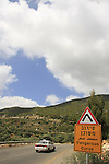 Israel, Upper Galilee, road 864