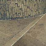 Close up of concrete road segments