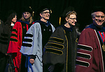 Faculty members make their way into the arena during the procession Sunday, June 11, 2017, during the DePaul University College of Science and Health and College of Liberal Arts and Social Sciences commencement ceremony at the Allstate Arena in Rosemont, IL. (DePaul University/Jamie Moncrief)