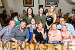 Ann Marie Austin from Ballylongford celebrate a birthday with family at Bella Bia's on Saturday front l-r Paul Hayes, Dan Milbourne, Emily Austin, Ann Marie Austin, Ula Milbourne, John Austin, Jessica Austin, Back l-r Kerrie Hayes, Hannah Miler and Amy Austin