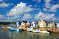 Fishing boats and sheds. Strait of Northumberland.
