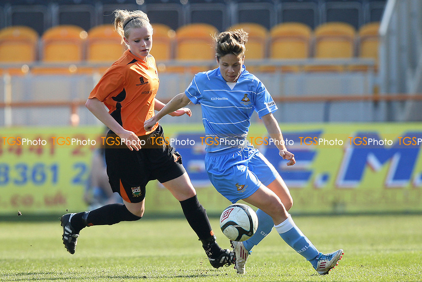 Barnet Ladies vs Doncaster Rovers Belles - FA Womens Cup 5th Round Football at Underhill Stadium, High Barnet - 11/03/12 - MANDATORY CREDIT: Gavin Ellis/TGSPHOTO - Self billing applies where appropriate - 0845 094 6026 - contact@tgsphoto.co.uk - NO UNPAID USE.