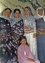 Iran 1985 In Ourmieh, Kurdish women, 2nd left, Fatmeh, mother of Soheila Ghassemlou <br /> Iran 1985 Femmes kurdes a Ourmieh, 2eme a gauche, Fatmeh, la mere de Soheila Ghassemlou