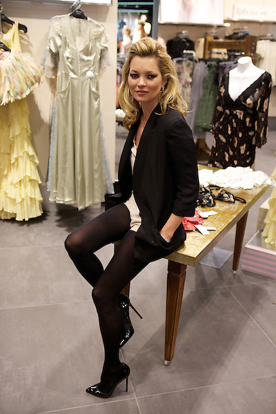 Kate Moss at The Knightsbridge Topshop launch party