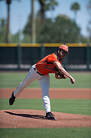 San Francisco Giants Orange starting pitcher Julio Rodriguez (61) follows through on his delivery during an Extended Spring Training game against the Seattle Mariners at the San Francisco Giants Training Complex on May 28, 2018 in Scottsdale, Arizona. (Zachary Lucy/Four Seam Images)