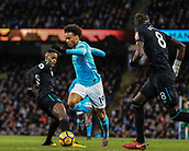 3rd December 2017, Etihad Stadium, Manchester, England; EPL Premier League football, Manchester City versus West Ham United; Leroy Sane of Manchester City  skips past Edimilson Fernandes of West Ham
