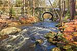 The Swift River runs through the Quabbin Reservation, New Salem, MA, USA