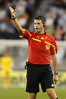 Referee Elias Bazakos... Sporting Kansas City defeated Portland Timbers 3-1 at LIVESTRONG Sporting Park, Kansas City, Kansas.