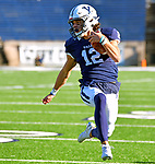 November 2nd, 2019:  Backup QB Ty Lenhart scores as the Yale Bulldogs up their record to 6-1 defeating the Columbia Lions 45-10 in Ivy League football.  The game was held at the Yale Bowl in New Haven, Connecticut. Heary/Eclipse Sportswire/CSM