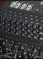 BNPS.co.uk (01202 558833)<br /> Pic: Christies/BNPS<br /> <br /> Inflation game...<br /> <br /> A rare Enigma machine developed especially for the Nazi's notorious U-boat fleet has sold for a world record &pound;430,000. <br /> <br /> Hitler's high command used the ingenious device to transmit coded messages without the Allies finding out during the Second World War.<br /> <br /> This particular version, named the M4 because it was fitted with four rotors instead of three, proved to be one of the most difficult to decrypt for Alan Turing and his Bletchley Park boffins. <br /> <br /> Kriegsmarine commander in chief Karl Donitz ordered the development of the M4 after suffering repeated defeats at the hands of the Allies early in the war.