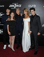 "Mark Dacascos, Julie Condra and children at the World Premiere of ""John Wick: Chapter 3 Parabellum"", held at One Hanson in Brooklyn, New York, USA, 09 May 2019"