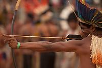XI Jogos dos Povos Indígenas -  Índios Nhambikwara de MT<br /> O evento, que acontece entre os dias 5 e 12 de novembro, tem como sede o município tocantinense de Porto Nacional, que fica a cerca de 60km da capital, Palmas. São sete dias de competições e apresentações culturais, com a participação de cerca de 1.300 indígenas, de aproximadamente 35 etnias, vindas de todas as regiões do país. São esperados ainda líderes e observadores indígenas de outros países (Argentina, Austrália, Bolívia, Canadá, Equador, EUA, Guiana Francesa, Peru e Venezuela). <br /> Foto Paulo Santos<br /> 08/11/2011<br /> Ilha de Porto Real, Porto Nacional, Brasil