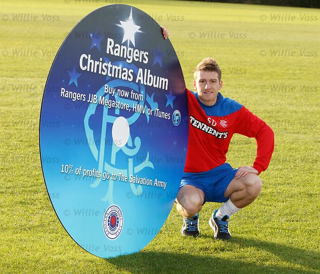 Steven Davis promotes the new Rangers Christmas CD