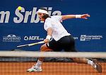 Tenis, Serbia Open 2011.Final.Novak Djokovic (SRB) Vs. Feliciano Lopez (ESP).Feliciano Lopez, returns the ball.Beograd, 01.05.2011..foto: Srdjan Stevanovic