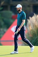 Kyle Stanley (USA) on the 18th green during the 3rd round at the WGC HSBC Champions 2018, Sheshan Golf CLub, Shanghai, China. 27/10/2018.<br /> Picture Fran Caffrey / Golffile.ie<br /> <br /> All photo usage must carry mandatory copyright credit (&copy; Golffile | Fran Caffrey)