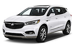 2018 Buick Enclave Avenir 5 Door SUV angular front stock photos of front three quarter view