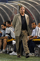 Los Angeles Galaxy head coach Bruce Arena. The Los Angeles Galaxy defeated the New York Red Bulls 3-1 during a Major League Soccer match at Giants Stadium in East Rutherford, NJ, on July 16, 2009.