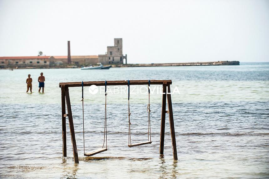 Marsala, (Trapani), Italia. Riserva naturale della Laguna dello Stagnone.