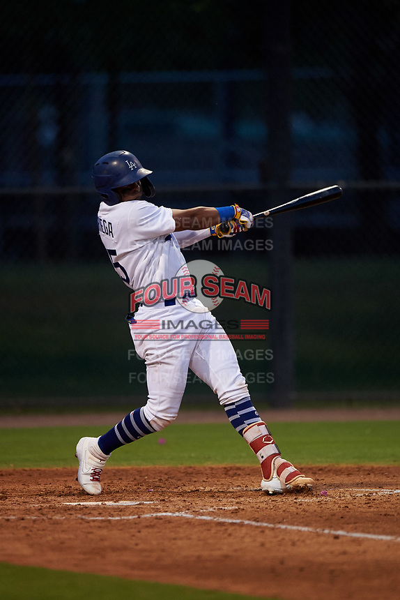 AZL Dodgers Mota Andres Noriega (45) at bat during an Arizona League game against the AZL Giants Orange on June 29, 2019 at Camelback Ranch in Glendale, Arizona. The AZL Giants Orange defeated the AZL Dodgers Mota 9-3. (Zachary Lucy/Four Seam Images)