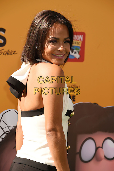 WESTWOOD, CA - NOVEMBER 01: Singer/actress Christina Milian attends the Premiere of 20th Century Fox's 'The Peanuts Movie' at the Regency Village Theatre on November 1, 2015 in Westwood, California.<br /> CAP/ROT<br /> &copy;Lee Roth/Capital Pictures