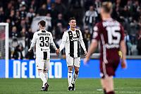 Cristiano Ronaldo of Juventus celebrates with Federico Bernardeschi after scoring the goal of 1-1 <br /> Torino 3-5-2019 Allianz Stadium Football Serie A 2018/2019 Juventus - Torino <br /> Photo Matteo Gribaudi / Image Sport / Insidefoto