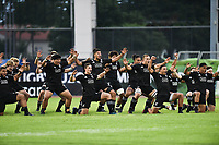 Haka of Team New Zealand during the U20 World Championship match between New Zeland and Japan on May 30, 2018 in Narbonne, France. (Photo by Alexandre Dimou/Icon Sport)