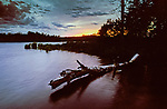 Sunset on English Lake in the Chequamegon National Forest.