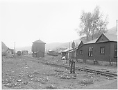 Looking west through the yard at Telluride.<br /> RGS  Telluride, CO  Taken by Clark, Dick - either 1947-1948