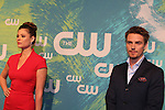 Peyton List & Riley Smith - The CW Upfront - Red Carpet Arrivals on May 19, 2016 at t he London Hotel, New York City, New York. (Photo by Sue Coflin/Max Photos)