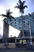 Sao Paulo, Brazil. The Unique Hotel, designed by Japanese Brazilian architect Ruy Ohtake.