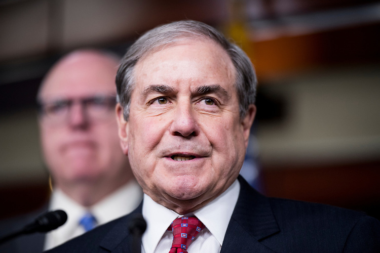 UNITED STATES - MARCH 15: House Budget ranking member John Yarmuth, D-Ky., speaks during the House Democrats's media availability on health care, and the CBO score of the American Health Care Act on Wednesday, March 15, 2017. (Photo By Bill Clark/CQ Roll Call)