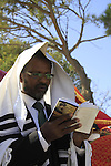 Israel, a prayer at the Jewish Ethiopian Sigd celebration in Jerusalem